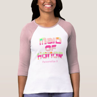 Personalized Maid of Honor T-Shirt
