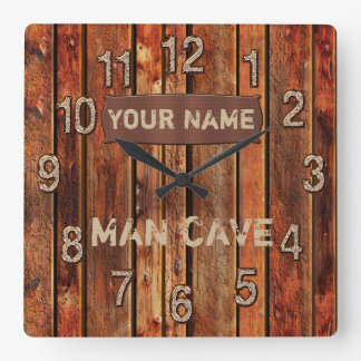 PERSONALIZED Man Cave Wall Clock with Your NAME