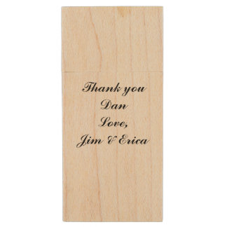 Personalized Maple USB Flash Drive