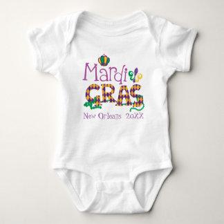 Personalized Mardi Gras Baby Bodysuit