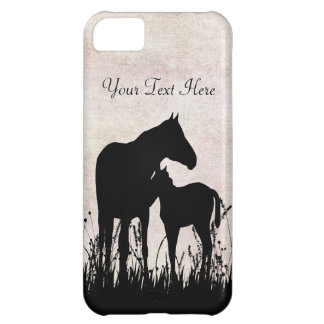 Personalized Mare and Foal Horse iPhone Case Case For iPhone 5C