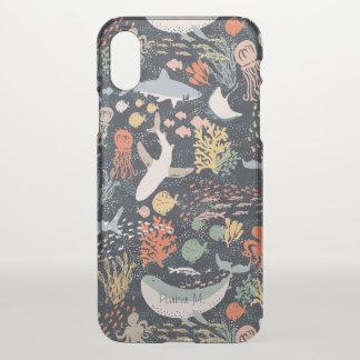 Personalized   Marine Life iPhone X Case