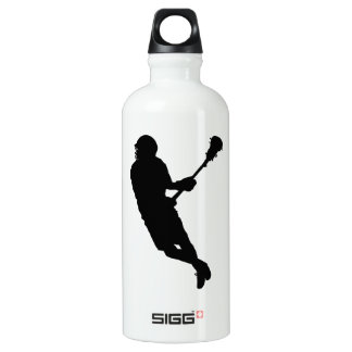 Personalized Mark (Green) Lacrosse Male Player SIGG Traveller 0.6L Water Bottle