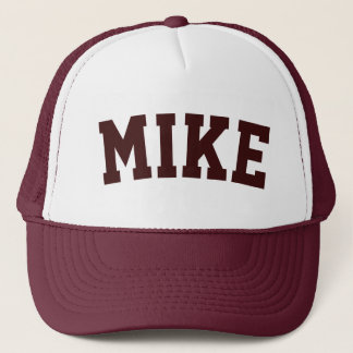 Personalized Maroon Short Name Trucker Hat