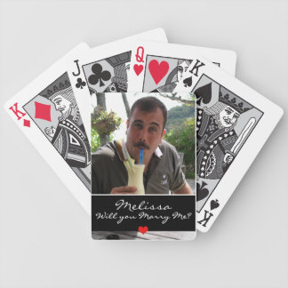 Personalized Marriage Proposal Playing Cards