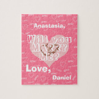 Personalized marriage proposal will you marry me jigsaw puzzle