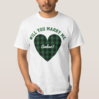 Personalized Marriage Proposal | Will You Marry Me T-Shirt