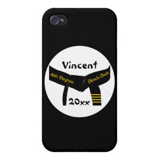 Personalized Martial Arts 4th Degree Black Belt iPhone 4/4S Cover