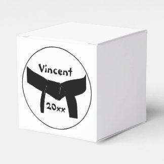 Personalized Martial Arts Basic Black Belt Favour Box