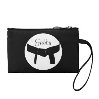 Personalized Martial Arts Black Belt Coin Purse
