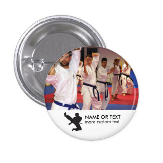 Personalized Martial Arts Karate Photo & Name 3 Cm Round Badge
