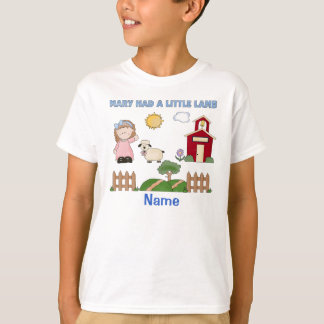 Personalized Mary Had A Little Lamb, Nursery Rhyme T-Shirt