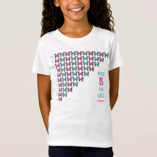 Personalized Math Is For Girls, I Love Counting T-Shirt
