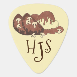Personalized Meatloaf Foodie Potatoes Monogram Guitar Pick
