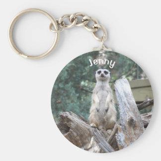 Personalized Meerkat Key Ring