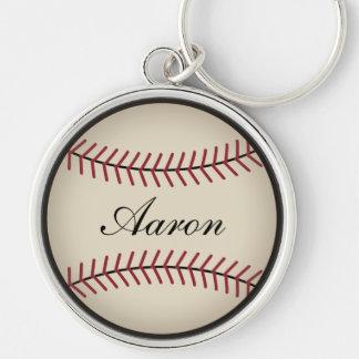 Personalized Men's Baseball Keyring Keychain Gift