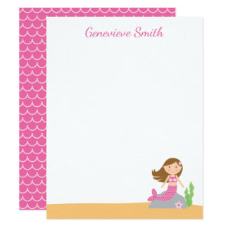 Personalized Mermaid Stationery Card