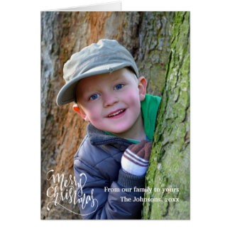 Personalized Merry Christmas Greeting Photo Card