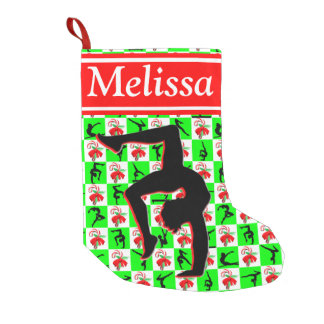 PERSONALIZED MERRY CHRISTMAS GYMNASTIC STOCKING