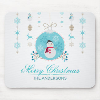 Personalized Merry Christmas Snowman | Mousepad