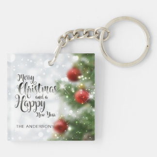 Personalized Merry Christmas Tree | Keychain