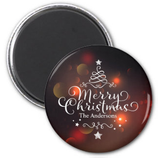 Personalized Merry Christmas Tree | Magnet