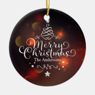 Personalized Merry Christmas Tree | Ornament