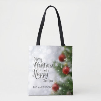 Personalized Merry Christmas Tree | Tote Bag