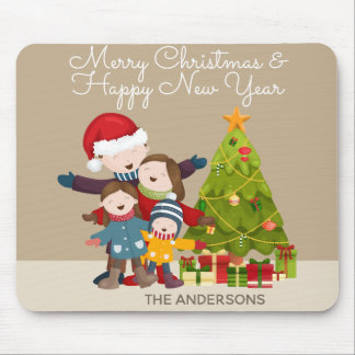 Personalized Merry Family Christmas | Mousepad