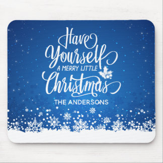 Personalized Merry Little Christmas | Mousepad