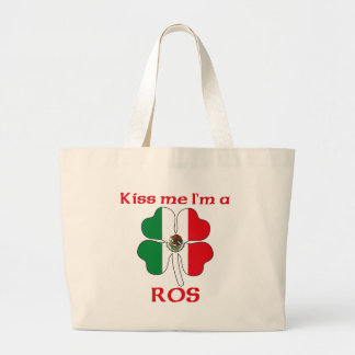 Personalized Mexican Kiss Me I'm Ros Tote Bag