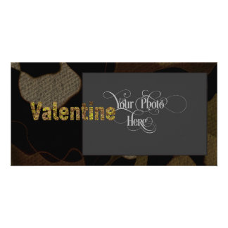 Personalized Military Camouflage Font Valentine Customised Photo Card