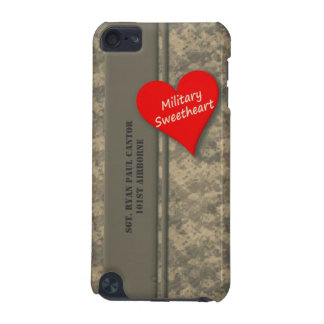 Personalized Military Sweetheart Camouflage iPod Touch (5th Generation) Cases