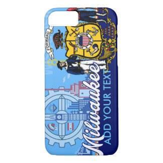 Personalized Milwaukee Wisconsin Flag iPhone 8/7 Case