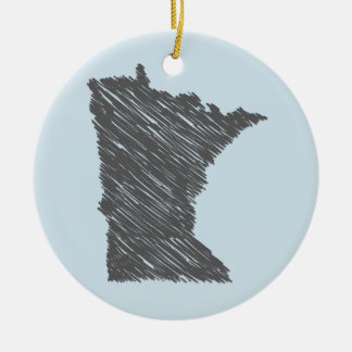 Personalized Minnesota Ornament