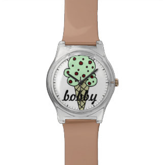 Personalized Mint Chocolate Chip Ice Cream Watch
