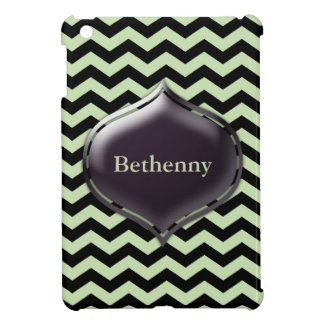 Personalized Mint Green Chevron Custom Color Case Cover For The iPad Mini