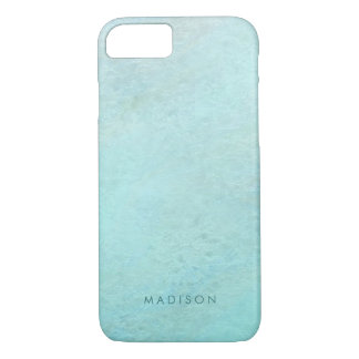 Personalized Mint Green Ombre Watercolor Pattern iPhone 8/7 Case
