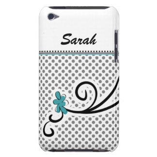 personalized mod floral aqua iPod touch case