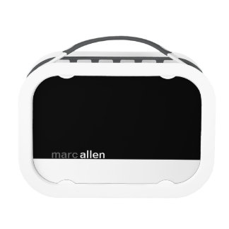 Personalized Modern Black & White Lunch Boxes