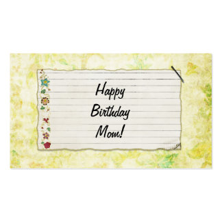 Personalized Mom birthday Flower Label Business Card Template