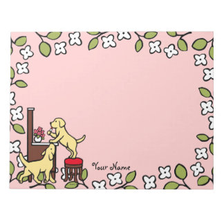 Personalized Mom's Yellow Lab Puppy Duo Memo Notepads