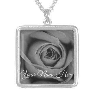 Personalized Monochromatic Rose Necklace