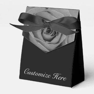 Personalized Monochromatic Rose Tent Favor Box