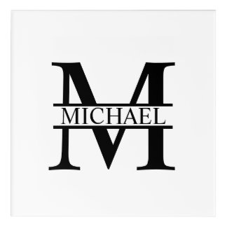 Personalized Monogram and Name Acrylic Print