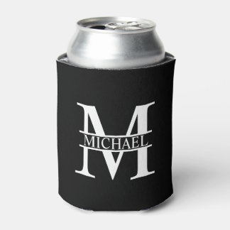 Personalized Monogram and Name Can Cooler