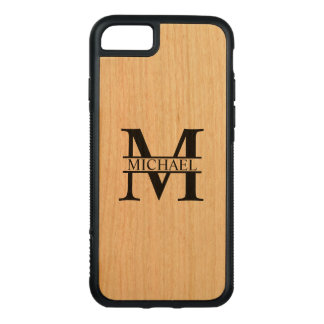 Personalized Monogram and Name Carved iPhone 8/7 Case