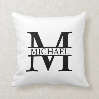Personalized Monogram and Name Cushion