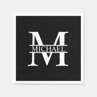 Personalized Monogram and Name Disposable Serviettes