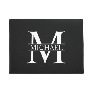 Personalized Monogram and Name Doormat